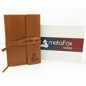 metaFox Notes – Elegant Leather A5 Notebook