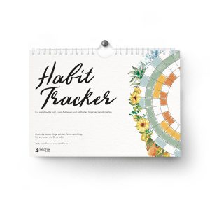 Habit Tracker – undated 12-month spiral tracker & wall calendar for building healthy habits