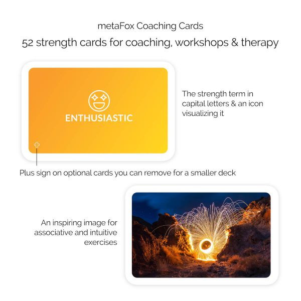 Strengths cards with strength terms, icons, and images